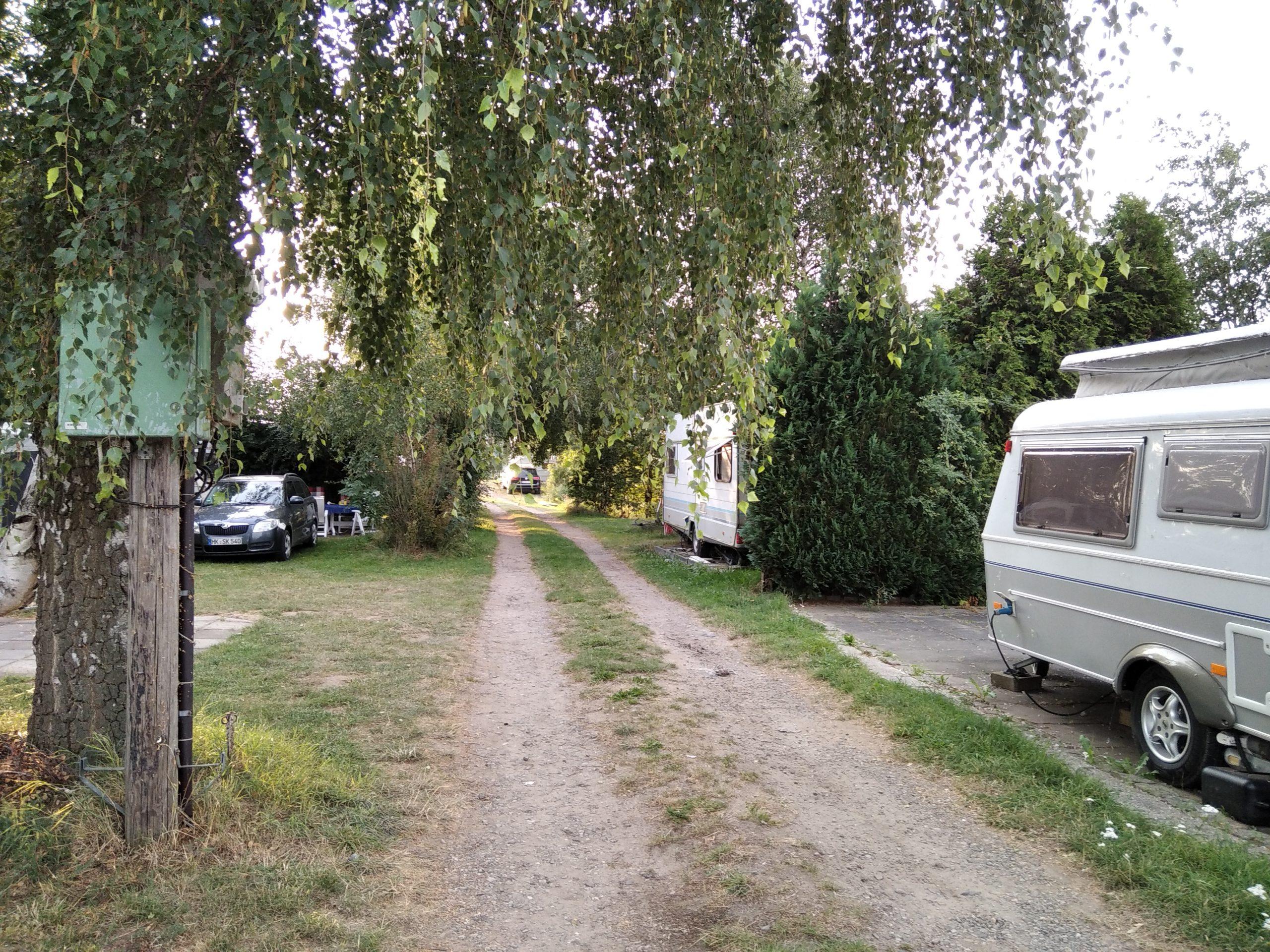 Weser-Camping-Bollen. Ein Blick auf den Platz
