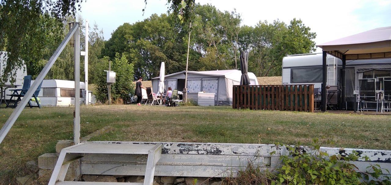 Weserzugang am Campingplatz Weser-Camping-Bollen